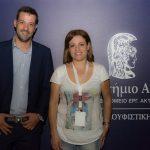 Ο πρόεδρος της Image, Γιώργος Γκάμαρης, με την ηθοποιό Μαριάννα Τουμασάτου στην συναυλία στήριξης της Μονάδας Ανακουφιστικής Αγωγής ''Τζένη Καρέζη''.