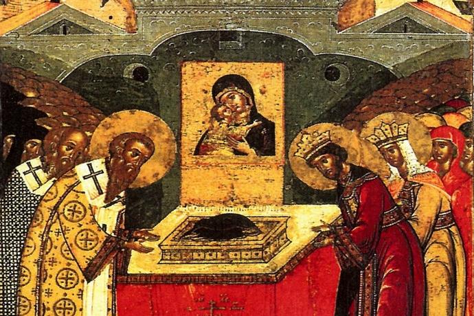 Αποτέλεσμα εικόνας για καταθεση τιμιας εσθητος της θεοτοκου